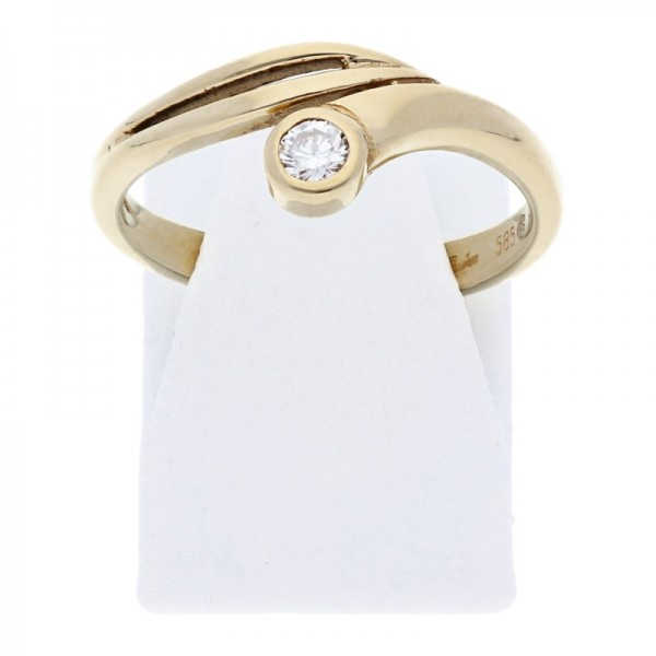 Quinn Solitär Brillant Ring 0,10 ct w-si 585 Gold