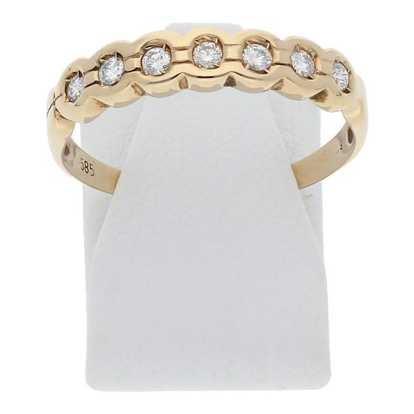 Diamant Halbmemory Ring 0,35 ct 585 Gold