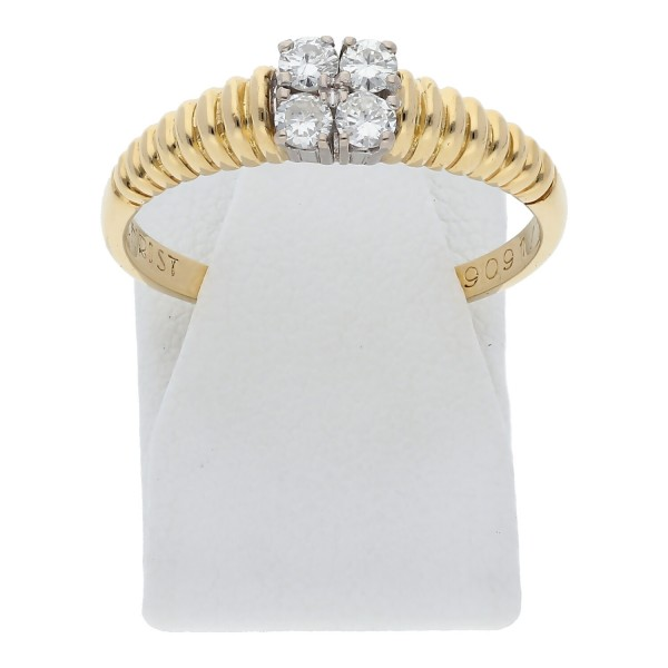 Christ Diamant Ring 0,25 ct 750 Bicolor Gold