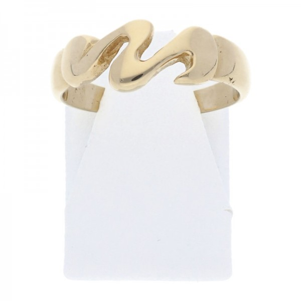 Damen Ring Wellenmuster 585 Gold