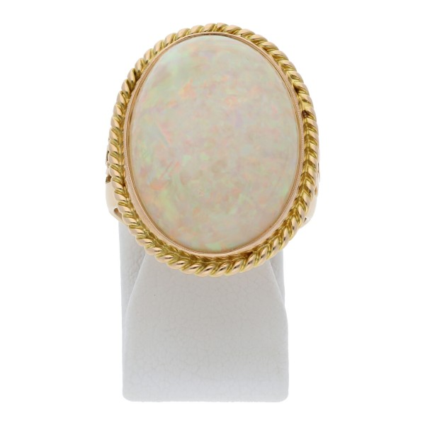 Opal Ring Handarbeit 750 Gold Expertise ca. 4500 Euro