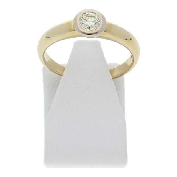Solitär Diamant Ring 0,25 ct 585 Gold
