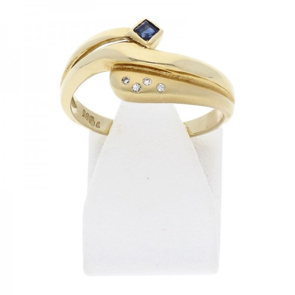 Saphir Diamant Ring 585 Gold