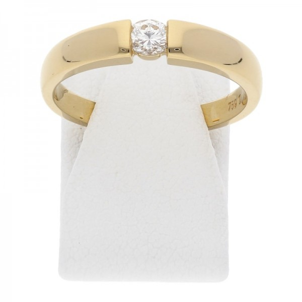 Solitär Diamant Brillant Ring 0,22 ct si 750 Gold