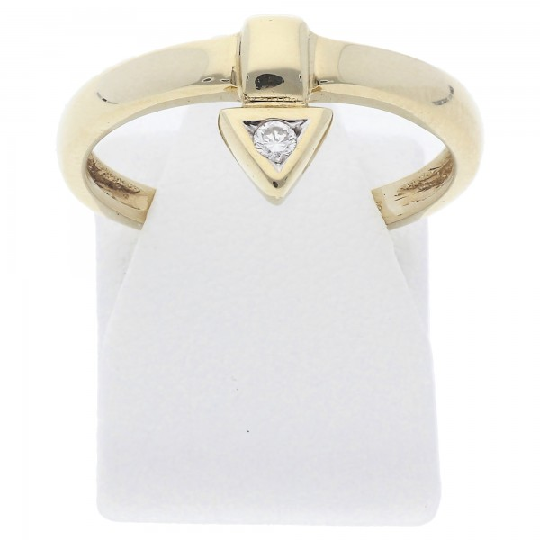 Solitär Diamant Ring 0,03 ct 585 Gold
