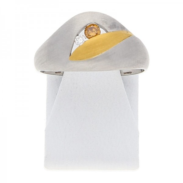Diamant Ring 0,07 ct 950 Platin Gold