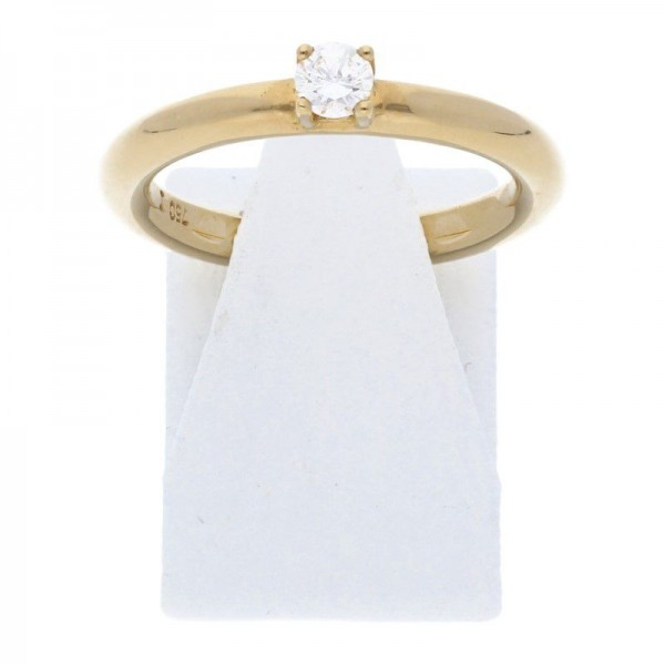Solitär Brillant Ring 0,19 ct 750 Gold