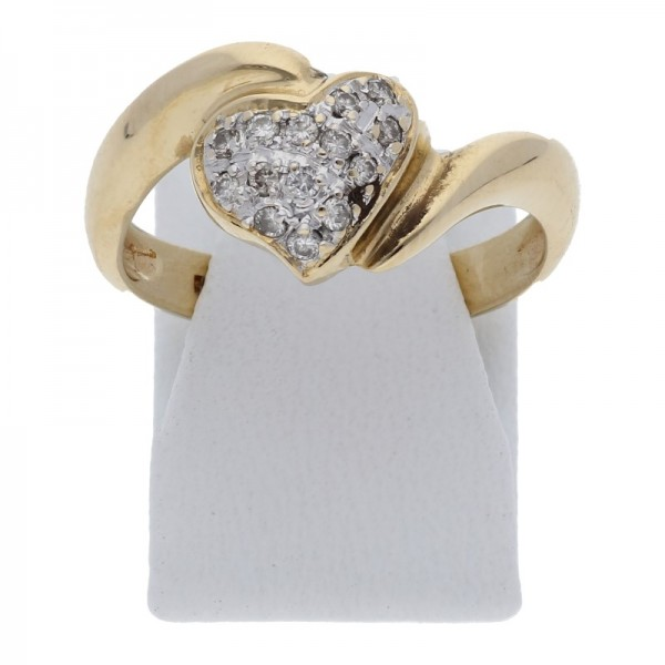 Diamant Herz Ring 0,14 ct 585 Gold