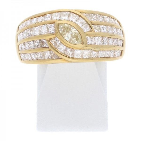 Diamant Navette Ring aus 750 Gold