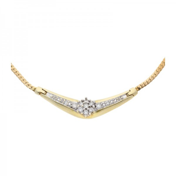 Panzer Collier Diamant Brillant 585 Gold
