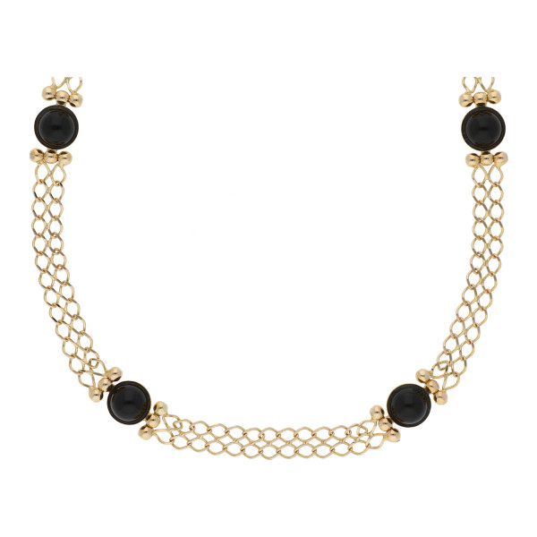 Onyx Collier 585 Gold