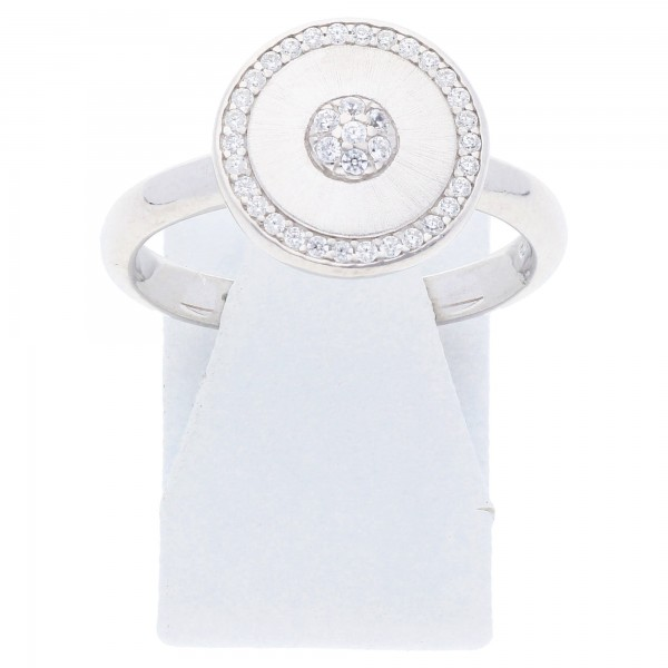 Zirkonia Damen Ring 925 Sterling Silber