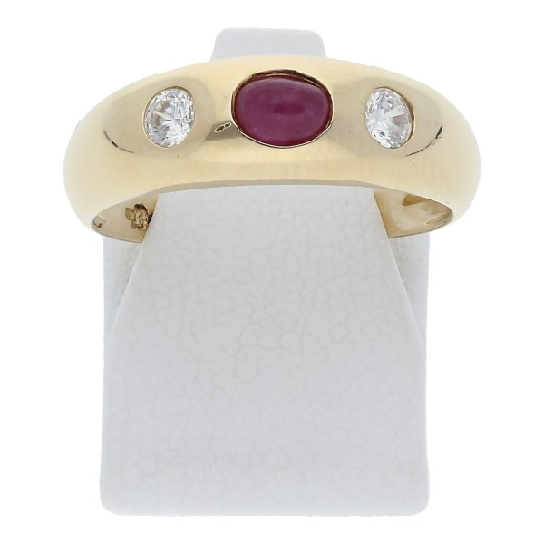 Rubin Zirkonia Ring 585 Gold