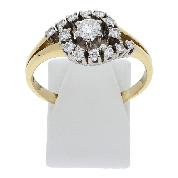 Vintage Diamant Brillant Ring 0,50 ct 750 Gold