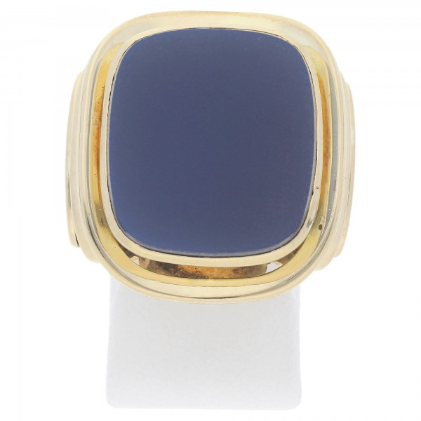 Herren Ring blauer Lagenstein 585 Gold