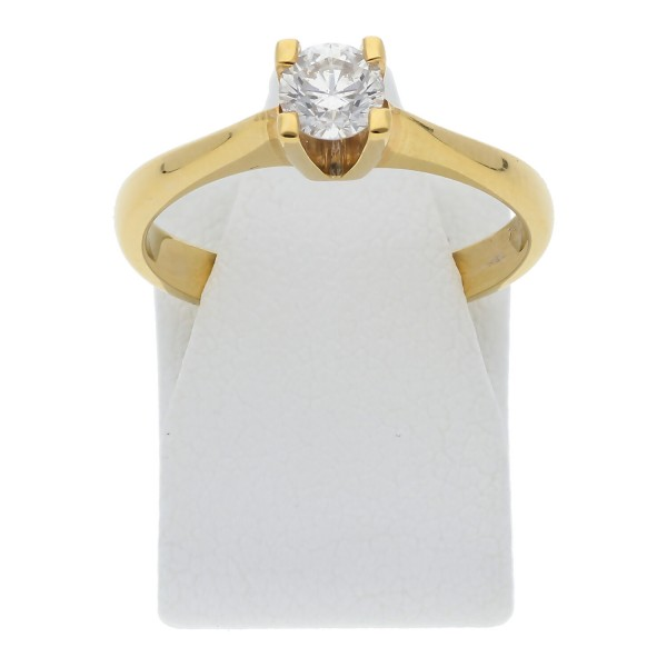 Solitär Brillant Ring 0,35 ct 750 Gold