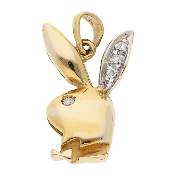 Diamant Playboy Anhänger 0,03 ct 333 Gold
