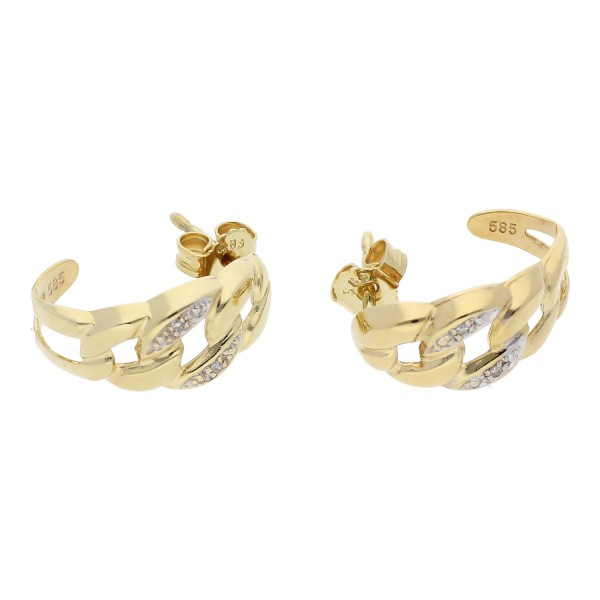 Diamant Ohrstecker 0,02 ct 585 Gold