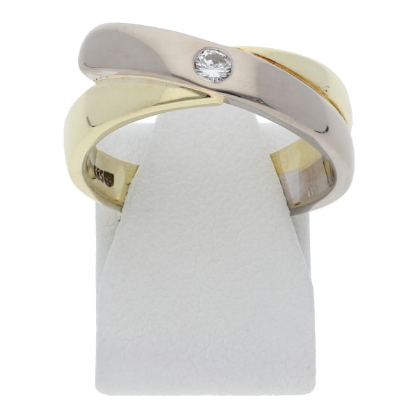 Diamant Ring 0,10 ct 585 Bicolor Gold