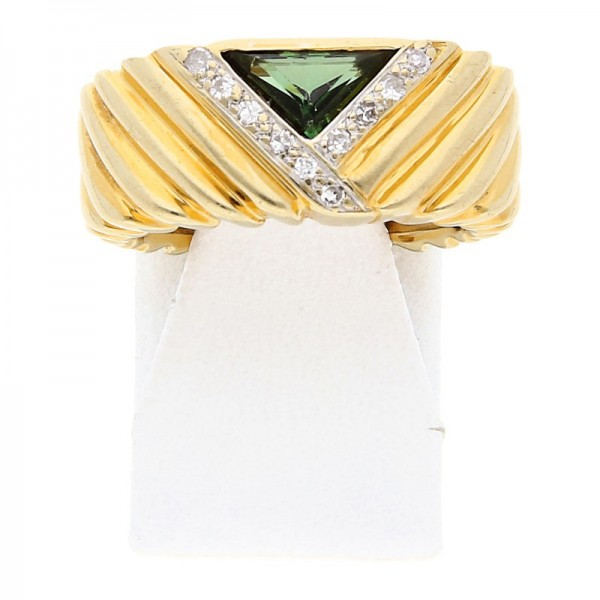 Turmalin Diamant Ring 585 Gold