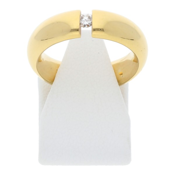 Solitär Diamant Spann Ring 0,10 ct vvs 750 Gold