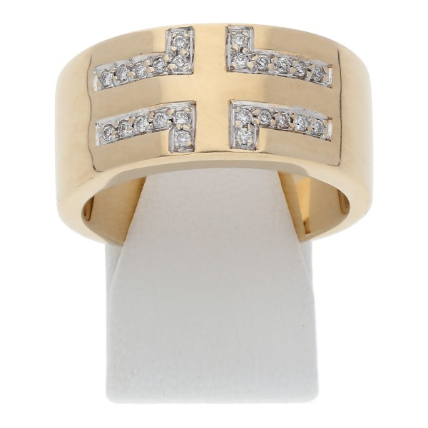 Breiter Christ Diamant Ring 0,24 ct 585 Gold