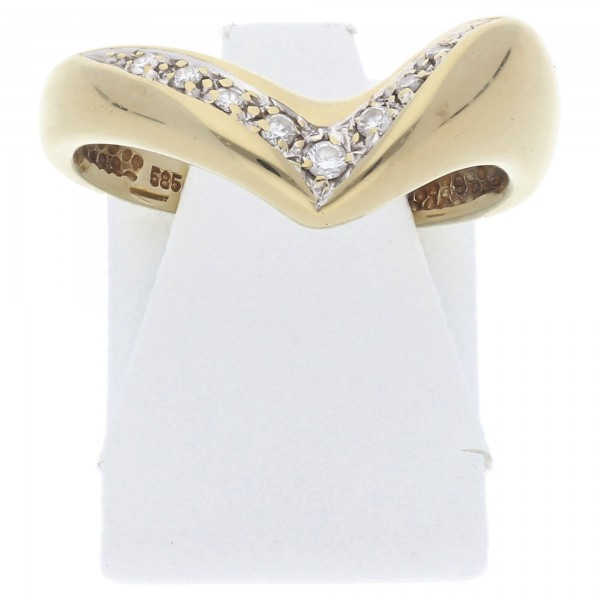 Diamant Brillant V Ring 0,10 ct 585 Gold