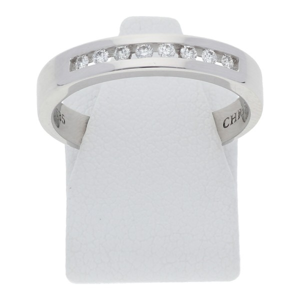 Christ Memory Ring 585 Weißgold 0,14 ct