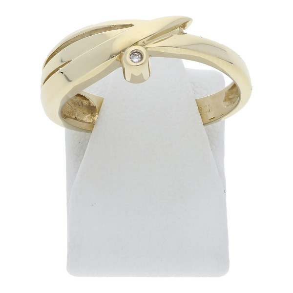 Solitär Diamant Ring 0,01 ct 585 Gold