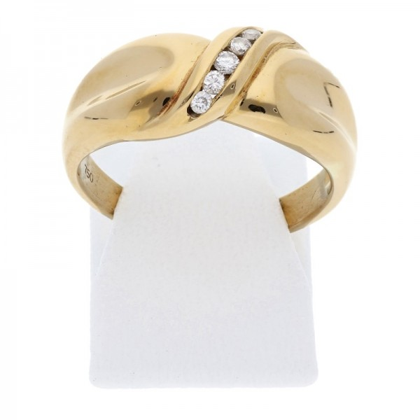 Diamant Ring 0,10 ct w-si 750 Gold