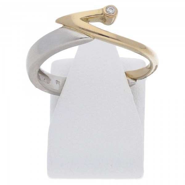 Solitär Diamant Brillant Ring 0,02 ct 950 Platin Gold