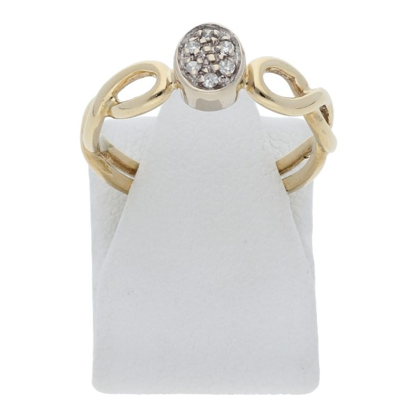 Diamant Ring 585 Gold Wellenmuster