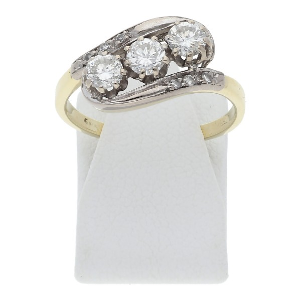 Diamant Ring 0,81 ct 585 Bicolor Gold