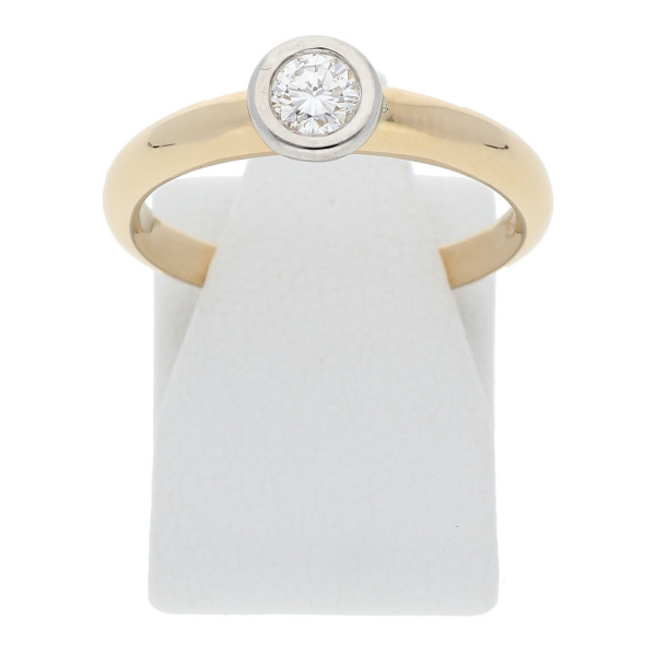 Solitär Diamant Verlobungs Ring 0,22 ct 585 Gold