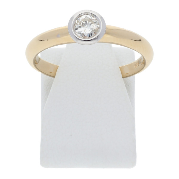 Solitär Diamant Ring Verlobung 0,25 ct 585 Gold