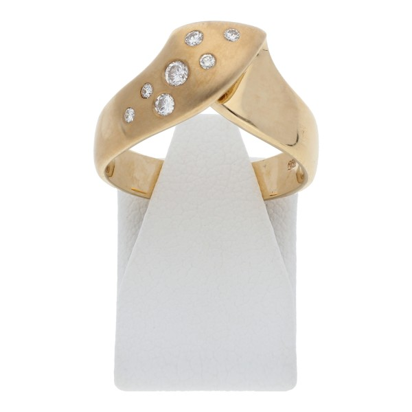 Diamant Brillant Ring 0,15 ct w-si 585 Gold