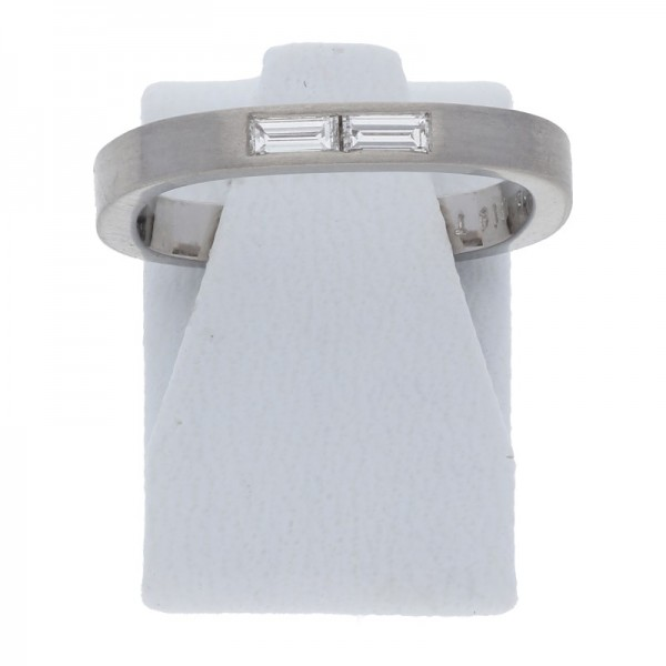 Baguette Diamant Ring ca. 0,19 ct 950 Platin