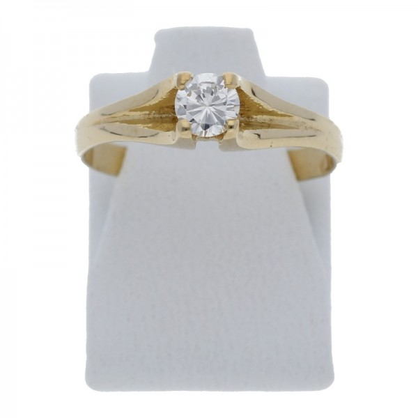 Solitär Diamant Ring 0,25 ct vvs 585 Gold