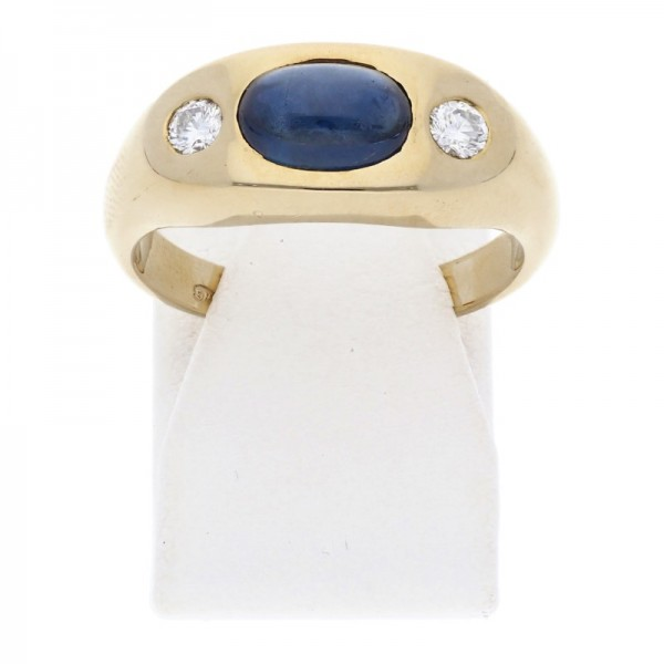 Saphir Brillant Ring 585 Gold