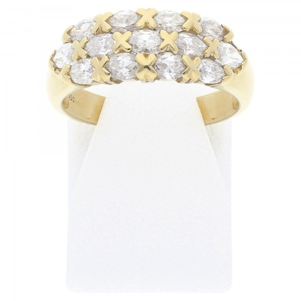 Diamant Navette Ring 1,00 ct 750 Gold