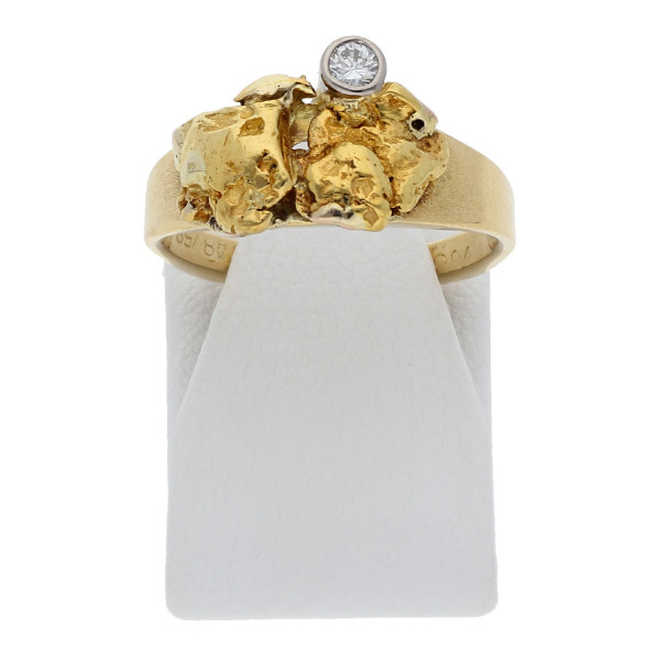Diamant Ring Nuggetform 750 Gold