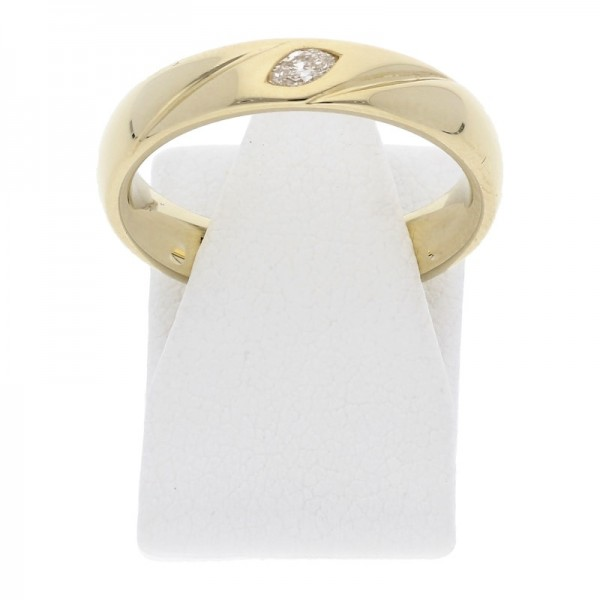 Diamant Navette Ring 0,09 ct 585 Gold