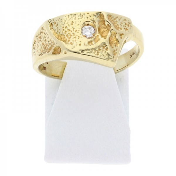 Diamant Ring 0,05 ct w-vvs 585 Gold