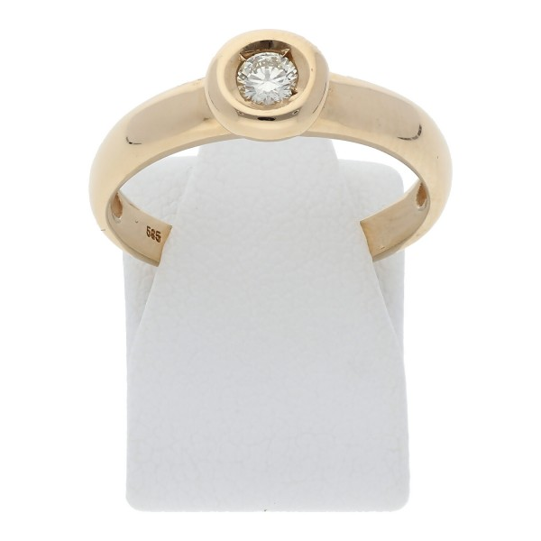 Ring 585/000 Gelbgold Brillant(en)