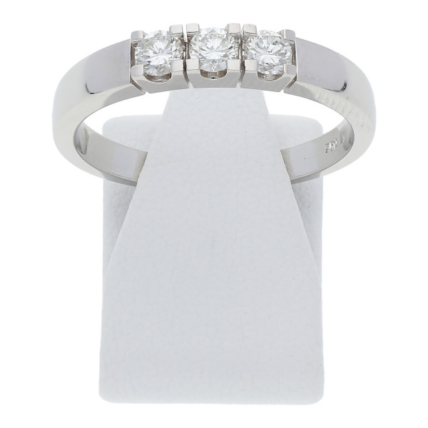 Diamant Ring 0,45 ct vvs 750 Weißgold Memory