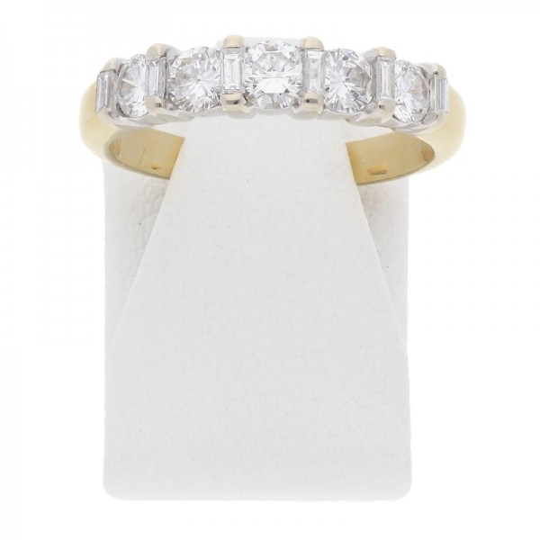 Diamant Brillant Memory Ring 0,75 ct 750 Gold Wert ca. 1790,-