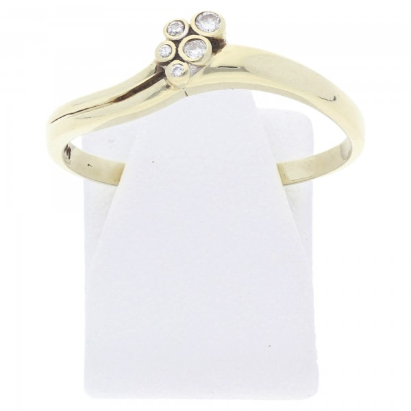 Diamant Brillant Ring 0,10 ct 585 Gold