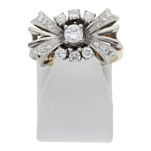 Diamant Brillant Ring 0,36 ct 585 Bicolor Gold