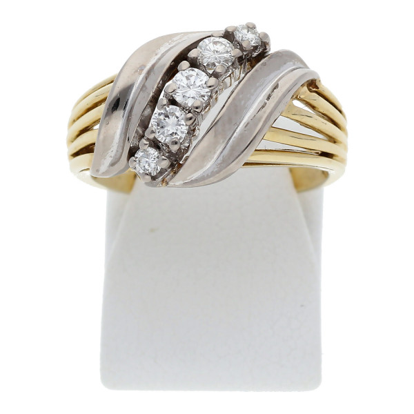 Ring Brillanten 0,25 ct 585 Bicolor Gold