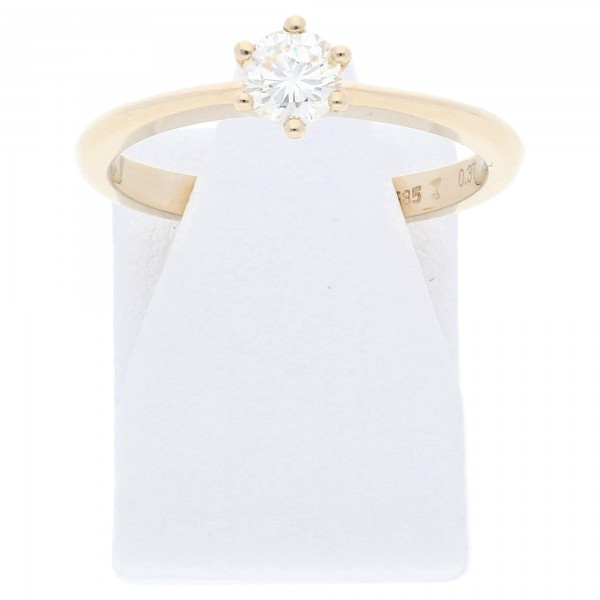 Solitär Diamant Ring 0,37 ct lupenrein 585 Gold